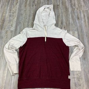 American Eagle Outfitters Gray Red Hoodie Pullover